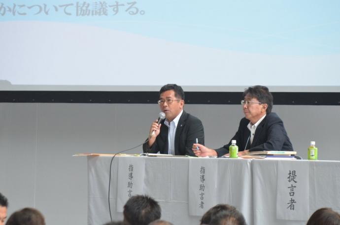 指導助言者 永峯 光朗(左)、佐藤 勝俊(左)