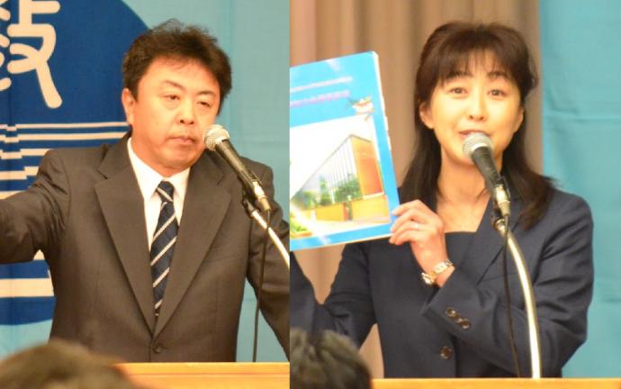 埼玉県・舘岡研究部長(左)北海道・山下研究部長(右)