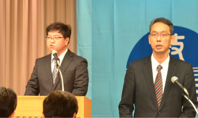 和歌山県・大道研究部長(左)鳥取県・笠見研究部長
