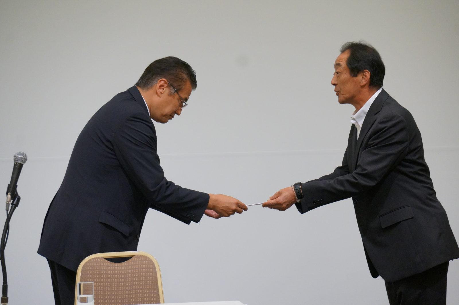 義援金:福島県会長