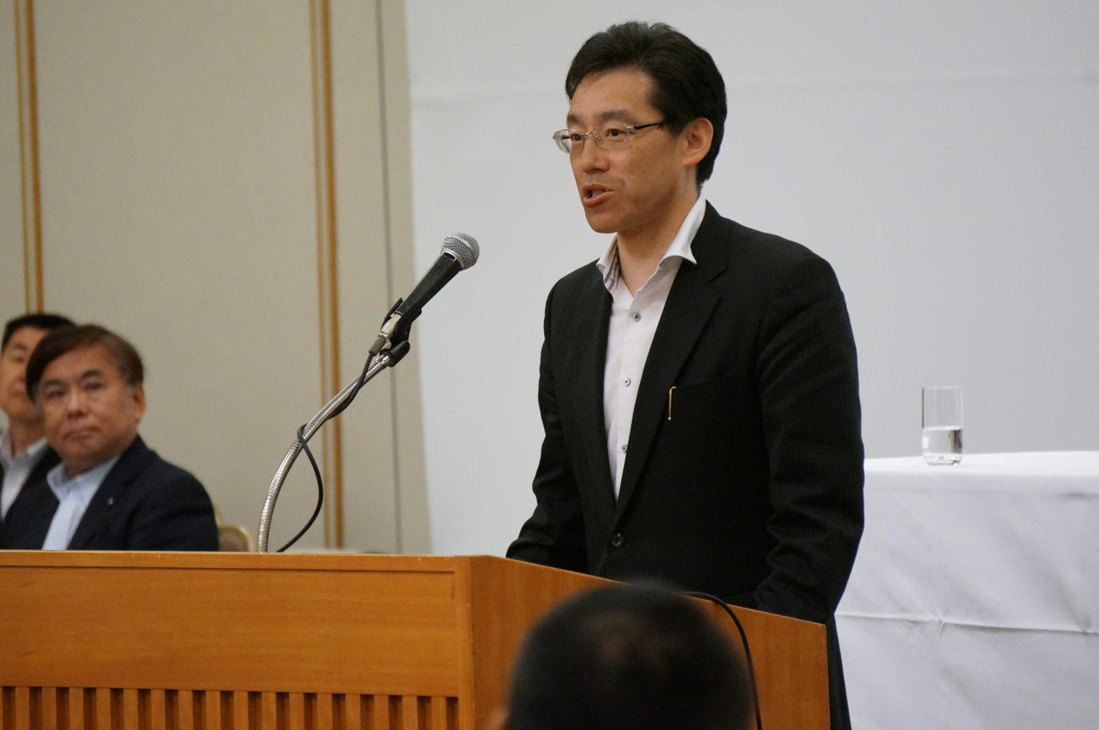 稲上札幌大会実行委員長
