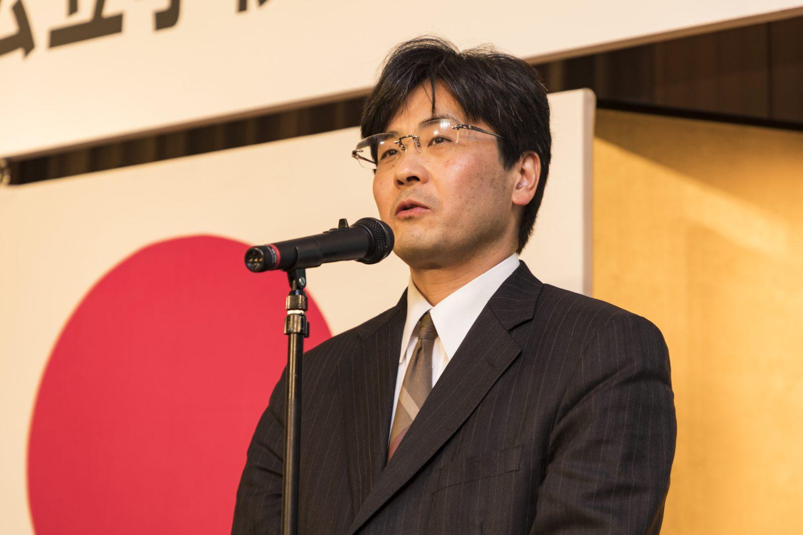 来賓挨拶 文部科学省 初等中等教育局 財務課長 合田哲雄 様